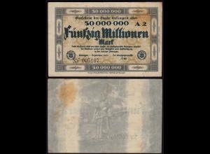 Rheinland - Solingen 50 Millionen Mark 1923 Notgeld Stadt (15370