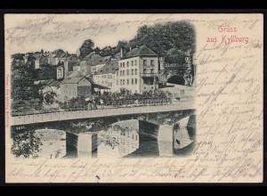 AK Gruss aus Kyllburg Eifelkreis Bitburg-Prüm 1901 Häuser im Prägedruck (17213