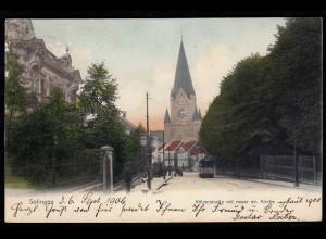 AK Solingen Kölnerstrasse mit neuer Kirche 1906 n.Alt Heppens (17214