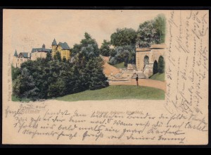 AK Litho Barmen Anlagen Ringelthal 1900 nach Marburg (17231