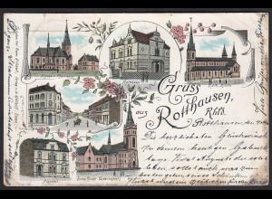 AK seltenes Litho Rotthausen (Gelsenkirchen) nach Bochum (17272
