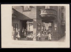 AK seltenes Privatfoto Schwelm 1924 Geschäft (17275