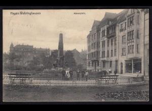 AK Hagen-Wehringhausen Kaiserplatz 1908 nach Wülfrath (17285