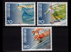 Liechtenstein Winter Olympiade 1997 Mi.1162-64 ** (c099