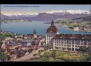 AK Luzern Schweiz 1917 Unfallversicherungsgebäude (12627
