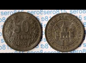 Notgeld Unna 50 Pfennig 1917 Z SELTEN Funck 556.3 (n177