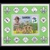 Samoa Pfadfinder SCOUTS Block 1982 ** (5269