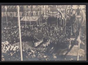 AK Fulda seltenes Foto 1905 Prozession Hotel Kurfürst (17397