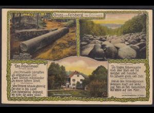 AK Gruss vom Felsberg im Odenwald (17402