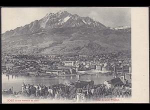 AK Luzern tolle Gesamtansicht und Pilatus Schweiz (12656