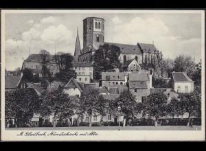 AK M-Gladbach Münsterkirche mit Abtei 1939 (12657