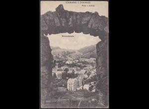 AK Lindenfels Odenwald Gesamtansicht durch die Bismarckwarte 1920 (12620