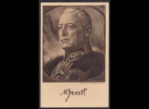 AK Der Krieg 1914/15 Deutsche Heerführer Feldpost signiert (17496