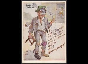 AK Karikatur Gruss vom Oktorberfest 1971 Armbrustschützenzelt (17502