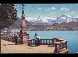 AK Luzern Am Schweizer Hofquai 1913 Schweiz (12621