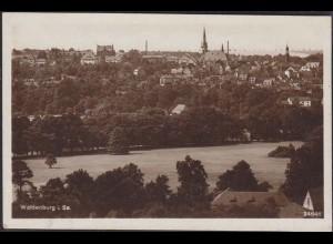 AK Waldenburg Sachsen Gesamtansicht 1932 gelaufen nach Geising (12649
