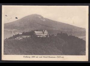AK Honnef Oelberg (461 m) und Hotel Rosenau (323 m) 1912 (17427