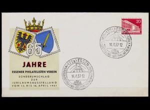 Privat Ganzsache Berlin PU 18/2 1957 SST ESSEN (3514a