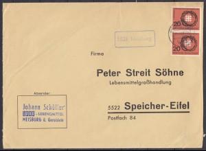 Brief Posthilfstelle Meisburg über Gerolstein (4298