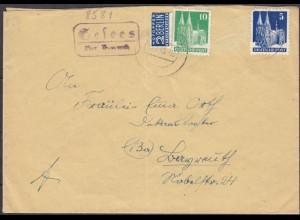 Brief Posthilfstelle/Landpost Gesees über Bayreuth (4322