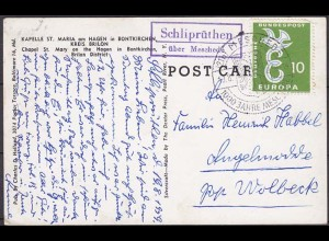 Karte Posthilfstelle Landpost Schliprüthen über Meschede 1959 (4429