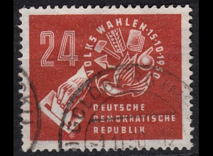 DDR 1950 Michel 275 Volkswahlen gestempelt (14503