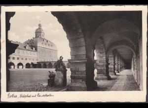 AK Gotha Schloßhof Wandelhallen Echte Pfoto (4592