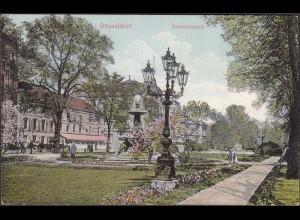 AK Düsseldorf Corneliusplatz Park 1913 (4555