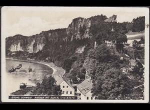 AK Sächsischen Schweiz Rathen Elbtal und Bastei (4582