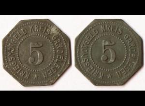 Gardelegen 5 Pf. o.J Z Notgeld/Kriegsgeld Funck 151.3 (R1064