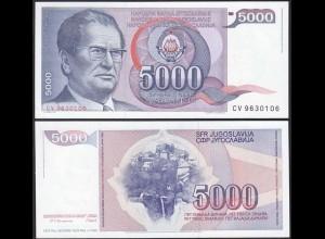 Jugoslawien - YUGOSLAVIA - 5000 Dinara 1985 UNC - Pick 93a (13288