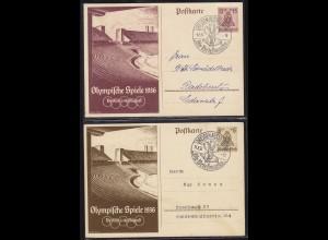 Olympiade 1936 Ganzsachen mit Sonderstempel Dresden (11165