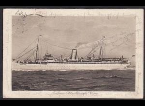 AK Turbinen-Schnelldampfer Kaiser 1926 mit Bordstempel Helgoland (17361