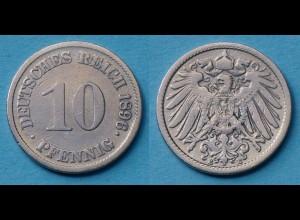 10 Pfennig 1896 E Deutsches Kaiserreich Empire Jäger Nr. 13 (17734