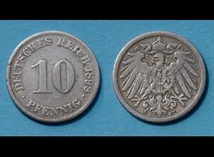 10 Pfennig 1898 J Deutsches Kaiserreich Empire Jäger Nr. 13 (17737