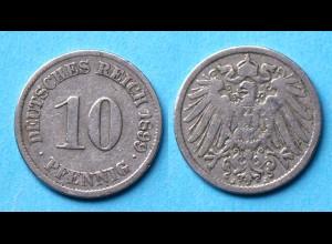 10 Pfennig 1899 J Deutsches Kaiserreich Empire Jäger Nr. 13 (17744
