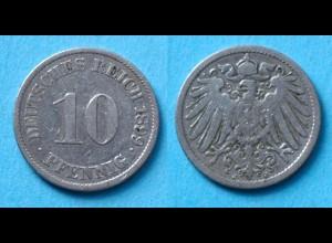 10 Pfennig 1899 J Deutsches Kaiserreich Empire Jäger Nr. 13 (17747