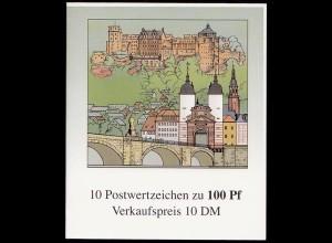 Bund Markenheftchen 33 Germany Booklet Heidelberg ** (8313