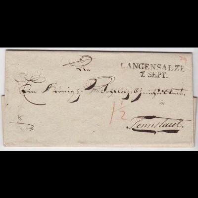 Preussen Langensalza - Tennstedt 1824 an Königl.Wohllöbliches Gerichtsamt (d661
