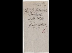 Sachsen Heldrungen Umschlag mit Inhalt 1839 (d650