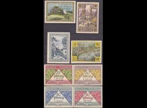 Thüringen - Rehmen 4 Stück Notgeld 1921 ( 13286
