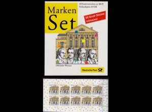Bund Markenheftchen 38 Germany Booklet 100 Jahre Weimar ** MNH (8317