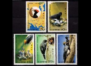 Korea Michel 1790-94 Vögel Birds Spechte 1978 ** (9757