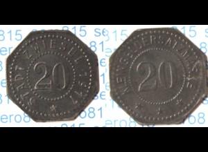 Zwiesel 20 Pfennig Notgeld 1917 Z Funck 632.3 (n113