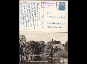 AK Schloß Wiesenberg Schmerwitz ü Belzig Posthilfstelle/Landpost