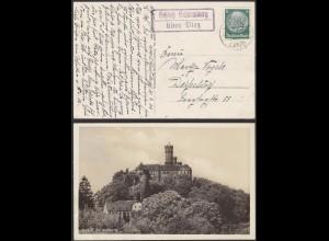 AK Schloß Schaumburg über Diez Posthilfstelle/Landpost 1934 (12208