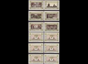 Sachsen - Stassfurth 6 Sück Notgeld 1921 Bergbau (12019