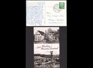 AK Haus Reichling Marmeckel Altenhundem Posthilfstelle/Landpost 1958 (12218