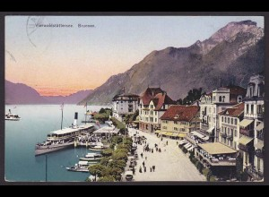 AK Vierwaldstättersee Brunen Bezirk Schwyz Schweiz 1916 (12220