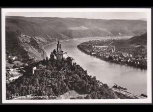 AK Echte Foto Marksburg mit Niederspay Rhein (12224